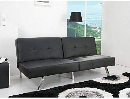 Gold Sparrow Jacksonville Foldable Futon Sofa Bed, Black