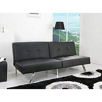 Gold Sparrow ADC-JAC-CSB-PUX-BLK Jacksonville Foldable Futon Sofa Bed, Black