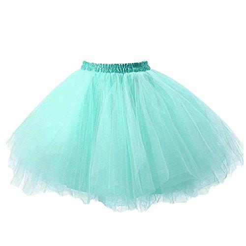 Ellames Jupon annes 50 vintage en tulle Petticoat ballet tutu Carnaval Jupe Menthe