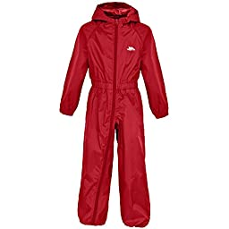 Trespass Childrens/Kids Button Waterproof Rain Suit (5/6 Years) (Gerbera)
