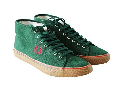 Fred Perry - Herrenschuhe -Sneaker- Kendrick Mid Canvas - Grün - Gr.40