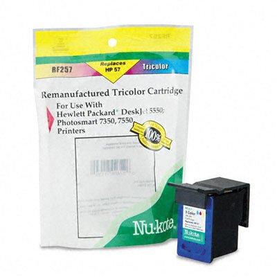 Nu Kote Remanufactured Inkjet (Remanufactured Ink Jet Cartridge for DeskJet, Tri Color (NUKRF257))