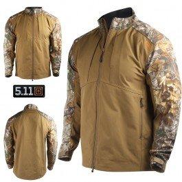 5.11 Men's Realtree Colorblock Sierra Soft-Shell Jacket, Battle Brown, Large