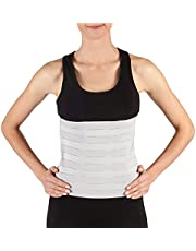 Soles Compression Abdominal Binder | Post-Surgical and Postpartum Support | Adjustable Belly Wrap Supports Muscle & Skeletal Stability | Unisex | One Size Fits All