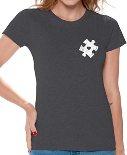 Awkward Styles Autism Awareness Puzzle T Shirts for Women Autism Gifts for Her
