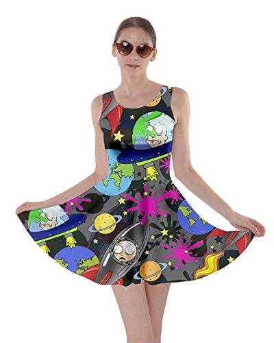 CowCow Womens Señora Frizzle Espacio meteorológica Ciencia La Naturaleza Reloj Skater Vestido...