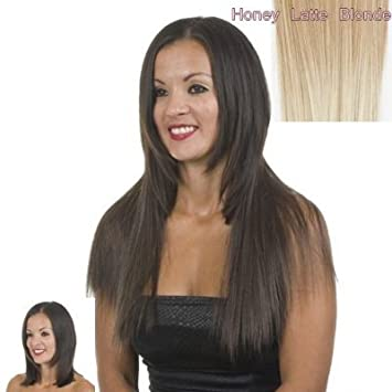 Amazon Com Excelength Honey Latte Light Brown With Blonde Tips