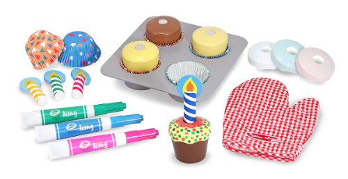 Trading Corp Oven (Melissa & Doug Bake and Decorate Wooden Cupcake Play Food Set)