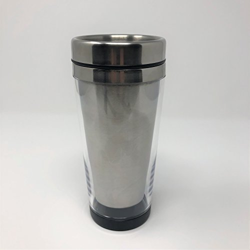 Engy Coffee Cup Travel Mug with Photo Insert Stainless Steel Lid 16 oz (Stainless Steel Lid) -