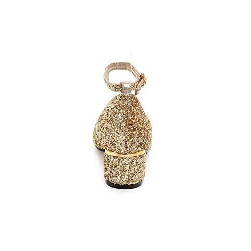 AdeeSu Womens Studded Dress Cold Lining Urethane Sandals SLC03990 Gold Erut8HV
