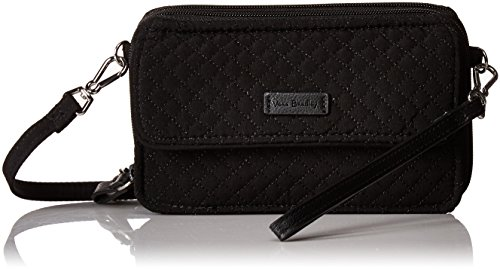 Vera Bradley Iconic RFID All in One Crossbody, Microfiber, Classic Black