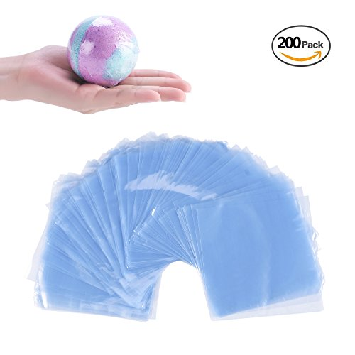 200 pcs Quality 6 x 6 inch Fiery Youth Shrink Wrap Bags For Bath Bombs Handmade Soaps and DIY Small Crafts