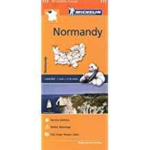 Michelin France: Normandy (Normandie) Map 513