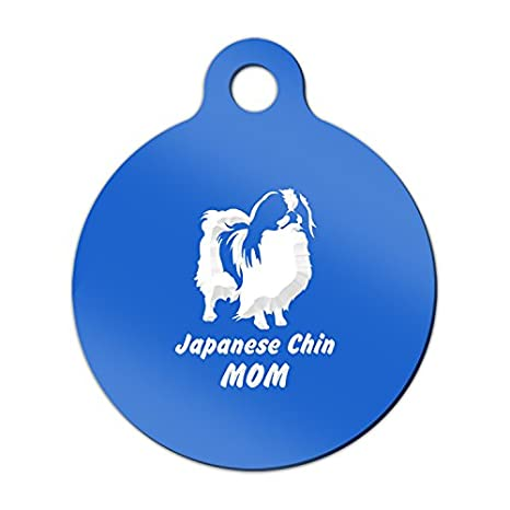 Amazon.com: Spaniel japonés mamá grabado llavero/etiqueta ...