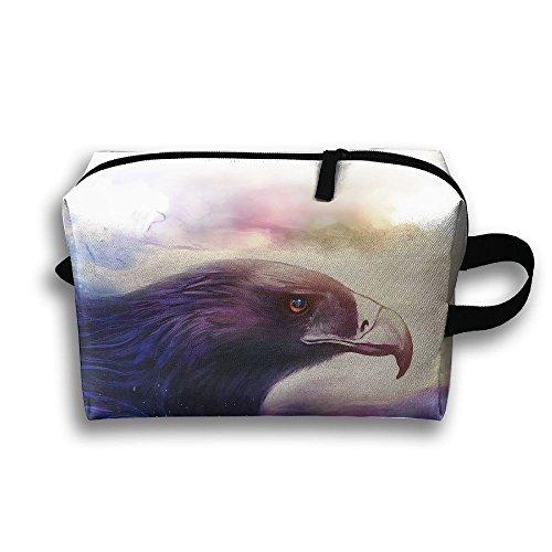 Travel Bags Bird Eagle Portable Storage Bag Clutch Wallets Cosmetic Bags Organizer Zipper Hangbag Carry Case
