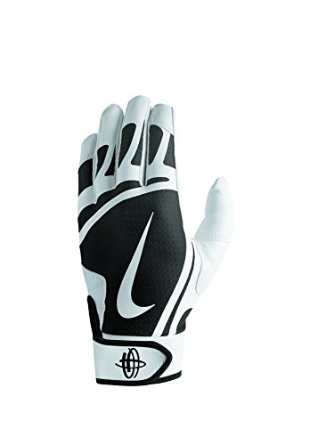 Nike Men's Huarache Edge Batting Gloves White/Black Size Large