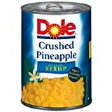 Dole Crushed Pineapple In Heavy Syrup 20 OZ (Pack of 12)