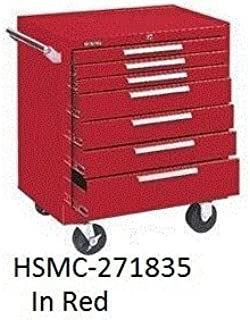 "product image for Kennedy Mfg, Medium Duty Maintenance Carts, Hsmc-271835, Size W X D X H: 27 X 18 X 35, Number Of Drawers: 7, Capacity: 1400#, Casters: 5 X 1 1/4"", Weight: 145#, Color Black-Bk, H277X"