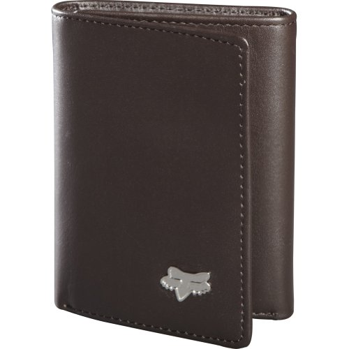 Fox Racing Leather (Fox Racing Leather Trifold Men's Casual Wallet - Brown / One)