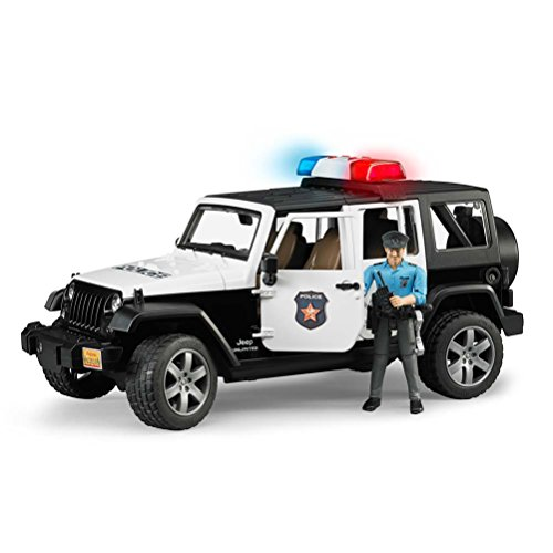 Typical Spanish Christmas Gifts - Jeep Rubicon Police car with Policeman