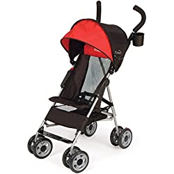Kolcraft Cloud Lightweight Umbrella Stroller with Large Sun Canopy, Scarlet Red