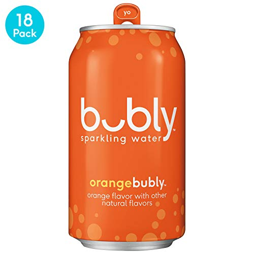 (bubly Sparkling Water, Orange, 12 fl oz. cans (18)