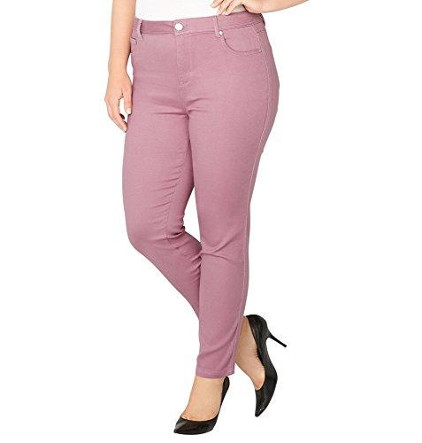 -AVENUE Women's Butter Denim Skinny Jean in Mauve, 18 Pink