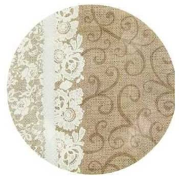 ... Paper Plates 10.5 inches diameter 12 Ct. Sturdy leakproof Rustic designed printed on weddings showers outdoor dining country style antique ...  sc 1 st  Amazon.com & Amazon.com: Burlap u0026 Lace Paper Plates (Lunch Size Plates): Health ...