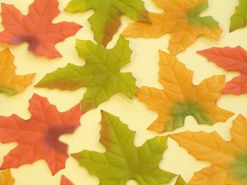 Wilt Leaf (Silk Maple Leaves - Mix of 3 Colors - 200 leaves per bag)