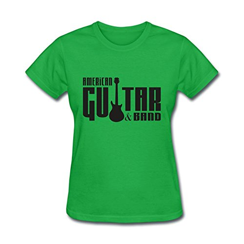Nevmore Women's Guitar Logo Short Sleeve T-Shirt Small Forest Green (Logo Guitar Dc)