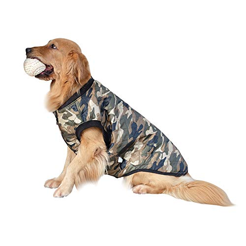 InnoPet Large Dog Clothes,Camo Dog Jacket Coat for Big Dogs,Pet Warm Winter Vest Apparel, Cute Dog Outfits Costumes for…