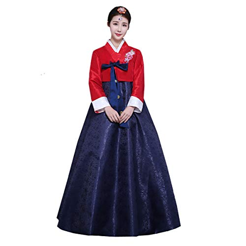 Traditional Korean Dress - XINFU Women Korean Traditional Long Sleeve Classic Hanboks Dress Cosplay Costume