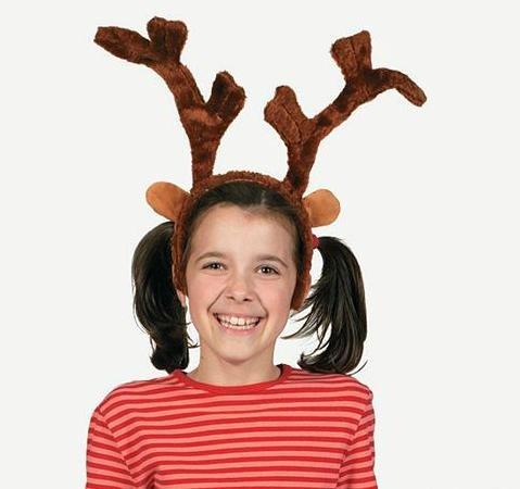 Deluxe Plush Reindeer Antlers Headband (1 Pack)]()