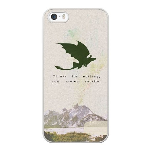 Coque,Coque iphone 5 5S SE Case Coque, Train Your Dragon Quotes Cover For Coque iphone 5 5S SE Cell Phone Case Cover blanc