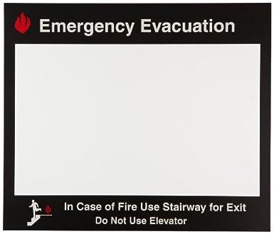 brady emergency evacuation map holder 102856 industrial warning