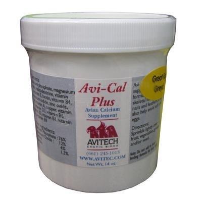 Avitech AviCal Plus Calcium Supplement 14 Oz