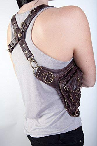 5046786603ee Amazon.com: BLASTER 4.0 Brown Leather Hip Bag/Shoulder Holster/Cross ...