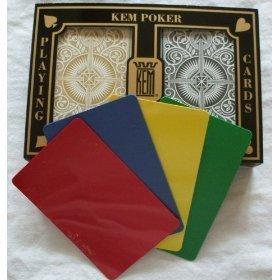 2 Free Cut Cards + KEM Arrow Black Gold Playing Cards Poker Size Regular Index by KEM by Kem Playing Cards