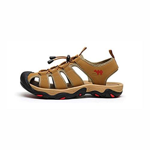 Sandali trekking punta da 40 da chiusa uomo Sandali di 2 da aperta Camoscio Sandali YaXuan passeggio Colore da passeggio 1 a Sandali spiaggia all'aria Sport pelle da Dimensione q1w1fZ6P