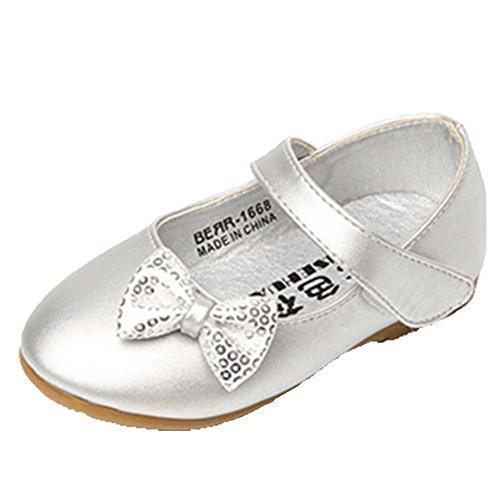Ballerinas Sandalen Sandaletten Silver Ohmais Freizeit Mädchen Sandalette Mädchen Kinder Kleinkinder flach Halbschuhe xFvv4fnq