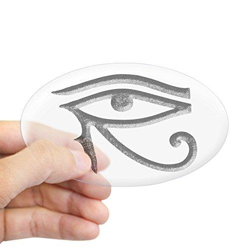 CafePress Wadjet - Eye of Horus/Ra Oval Sticker Oval Bumper Sticker, Euro Oval Car Decal
