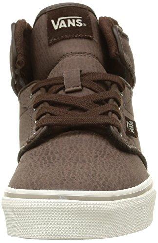 VansY ATWOOD HI LEATHER - Zapatillas Niños^Niñas Leather/Demitasse/Aluminum