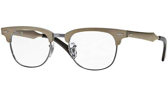 eddff5e747 Amazon.com  Ray Ban RX6295 Clubmaster Eyeglasses-2807 Brushed Bronze-49mm   Shoes