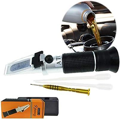Refractómetro Portátil Para El líquido De Operación Del Automóvil Con ATC, 5 Básculas, AdBlue, Refrigerantes Del Motor, Batería Anticongelante De Limpieza