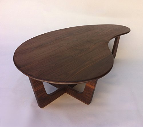 60″ Kidney Bean Cocktail Table – Mid Century Modern Coffee Table – Solid Walnut – Atomic Era Biomorphic Boomerang Adrian Pearsall Inspired 4140aYlWaBL
