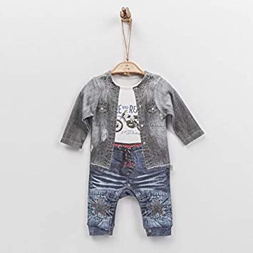 1becb23f2c1f0 Sevira Kids - Combinaison dors-bien pyjama bébé garçon en coton biologique  de 1 mois