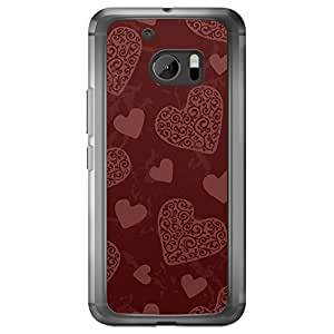 Loud Universe HTC M10 Love Valentine Printing Files Valentine 12 Printed Transparent Edge Case - Maroon