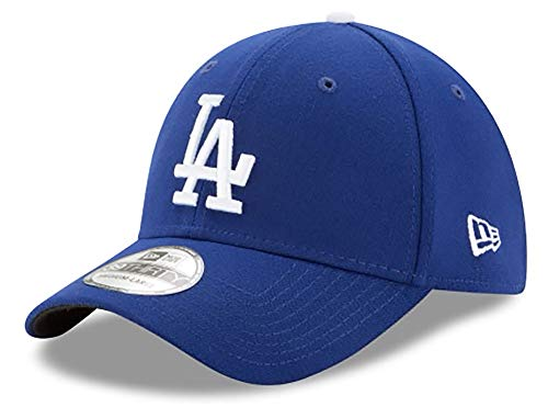 New Era MLB Los Angeles Dodgers Team Classic Game 39Thirty Stretch Fit Cap, Blue, Small/Medium