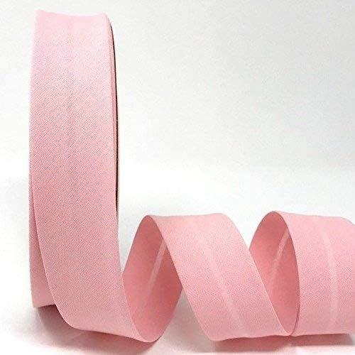Byetsa Cinta de polialgodón para bies de 30 mm en rollo de 25 m, color rosa pálido: Amazon.es: Hogar