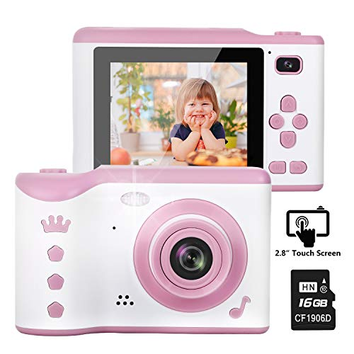 Kids Camera, 8.0MP Creative Digital Dual Camera, Rechargeable Children Camcorder with 2.8